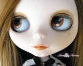 New Soft Resin REALISTIC OOAK custom Blythe eye chips set E4, by Ana Karina. UV laminated
