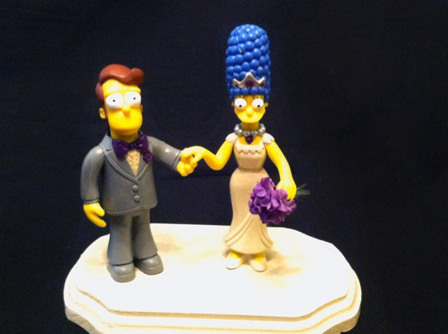 homer and marge simpson wedding cake topper marge and homer wedding cake topper 15306