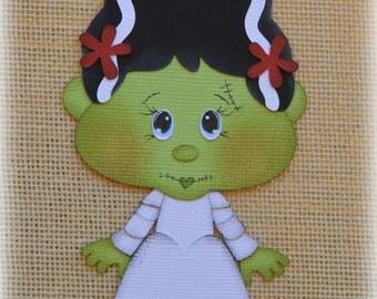 Bride Frankenstein Premade Halloween Scrapbooking Embellishment Paper Piecing set