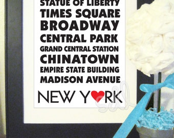 """PRINTABLE PDF Instant Download """"New York Places"""""""
