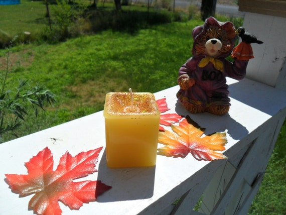 Mulled cider scented, square votive candle, votive candle, handmade candle (1)