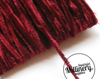 Vintage 1960's-80's Burgundy Chenille Wire (for making your own veiling dots) 1 Metre