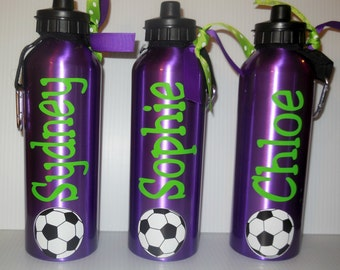 SALE *25oz BPA FREE  Personalized Spout Lid Water Bottles red, purple, silver, red, white
