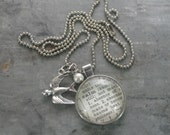 One Word Dictionary Necklace- CALM