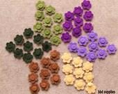 Highland Heather - Tiny Flowers - 54 Die Cut Felt Flowers