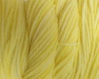Tango Yellow Sport DK Weight Hand Dyed Merino Wool Yarn