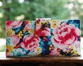 Vegan iphone wallet in vivid florals