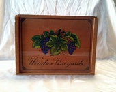 Reserved for Olivia. Vintage Wine Box. Large Wooden Wine Box.