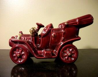 Metlox Poppytrail Allen Shaw Car Planter USA Burgundy