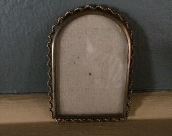 Miniature Antique Brass Picture Frame