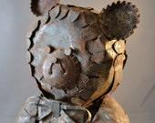 Vintage Tin Bear Folk Art