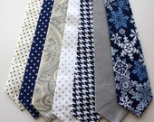 Little and Big Guy Necktie Tie - Frosted Wonderland Collection - (Newborn-Adult) - Baby Boy Toddler Teen Man - (Made to Order)