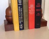 Vintage Wood Acorn Bookends