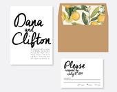 Urban Writing Wedding Invitation, Script Wedding Invitation, Modern Wedding Invitation, Classic Wedding Invitation, pattern invitation