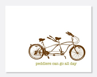 Peddler's Can Go All Day Bike Greeting Card