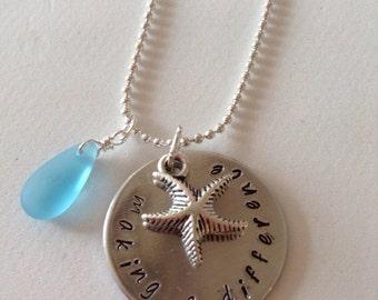 Teacher appreciation starfish necklace