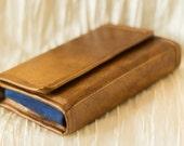 Premium 3DS XL Hard Case Plain Light Brown Vegan Leather and  Faux Suede