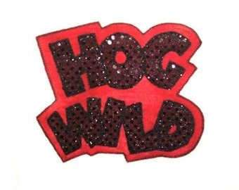 Exclusive HOG WILD Double Applique Designs in 5 Sizes