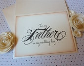 For My Father On My Wedding Day Card, Father Card, Dad Card, Parent Thank You, Vintage Style