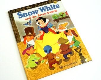 Walt Disney's Snow White and the Seven Dwarfs 1977 Hc / Vintage Childrens Big Golden Book
