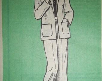 Sale - Vintage - Printed Pattern 9280 - Jacket - Pants - Half Size - 12 1/2 - Bust 35 - Uncut Pattern