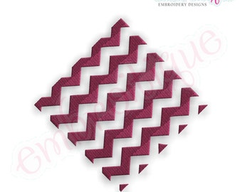 Chevron Diamond Filled Embroidery Design - Large- Instant Email Delivery Download Machine embroidery design