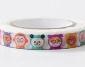 Ninja Animal, Nami Nami Deco, Japanese Die Cut Washi Paper Masking Tape, Adhesive Tape, Kawaii Animal Art Tape, Wrapping, Journal Decoration
