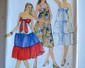 Butterick 3778 Misses Tiered Summer Dress Size 8-12 UNCUT