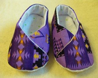 Baby Shoes - Purple Native Print