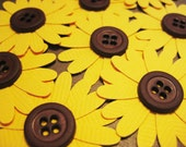RESERVED - 160 sunflower embellishments
