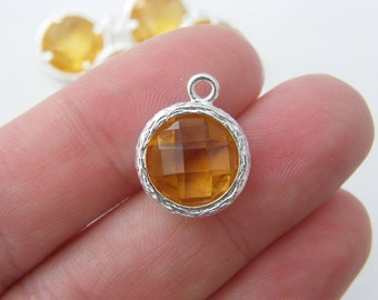 1 November birthstone topaz silver plated