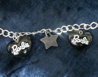 Black Hearted Barbie Bracelet