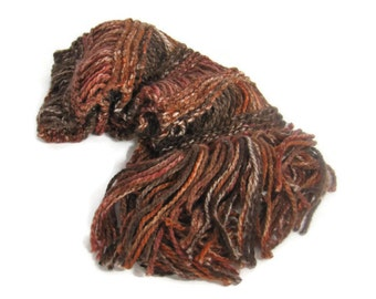 Chocolate Scarf, Brown Scarf, Knit Scarf, Hand Knit Scarf, Fashion, Winter, Women, Fiber Art, Gift Ideas