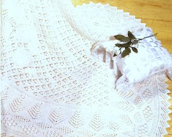 Knitting Pattern - Baby shawl Shetland Lace 3 ply - Baby Knitting