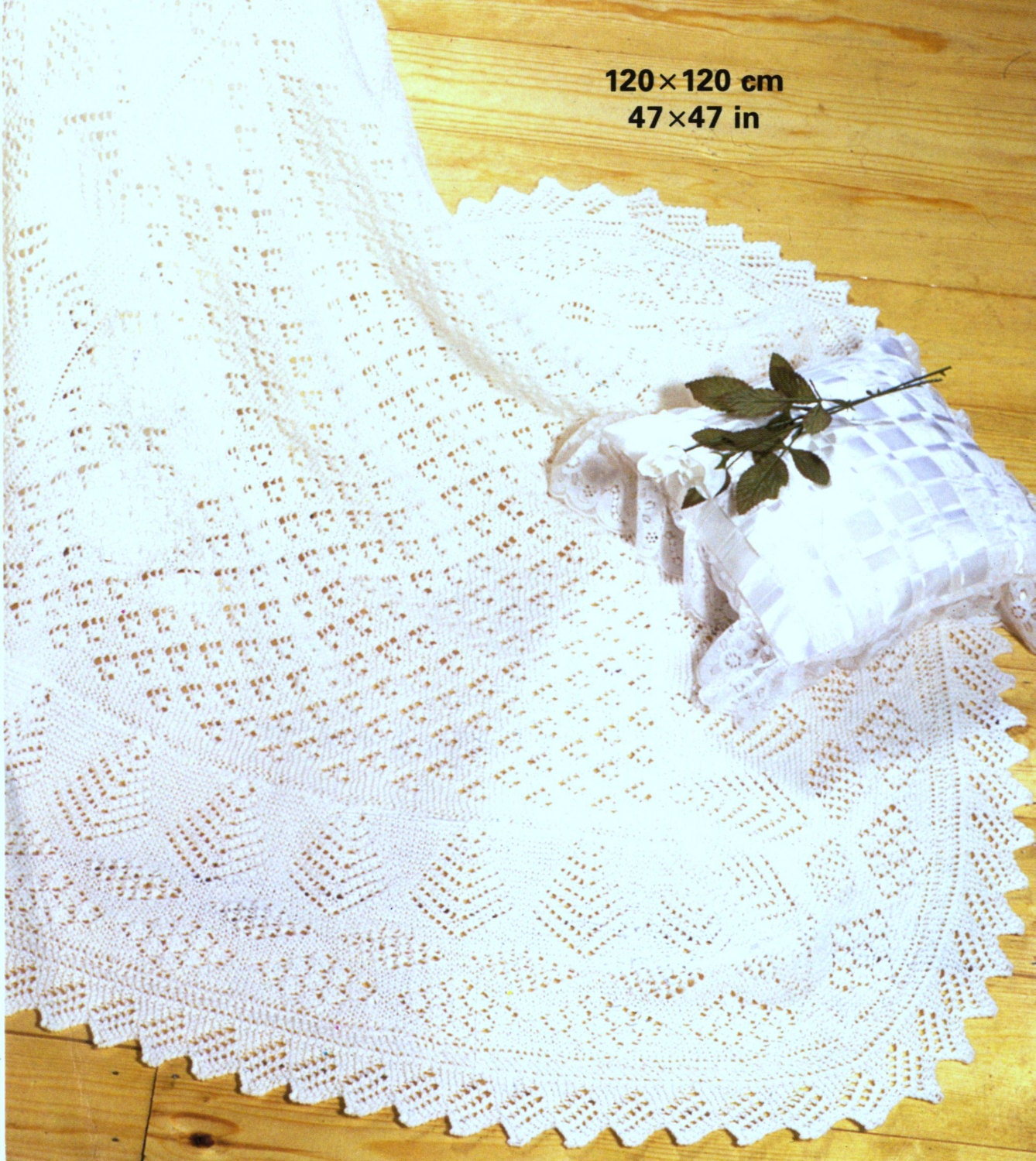 Free Easy Knitted Dishcloth Patterns : Shawl Knitting Pattern Baby shawl Shetland Lace 3 ply Baby