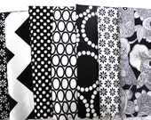 7 Custom Fat Quarter bundle, Black and White Only one Available