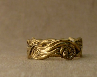 Squid Wedding Band (14K) Made to Order