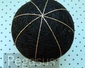 Black Temari Base Vertical 8, one 8 Combination (1 ball) Japanese folk craft supplies,