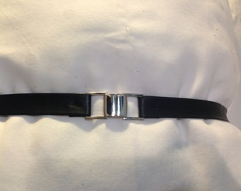 Leather belt Blue or Red with silver or gold metal buckle