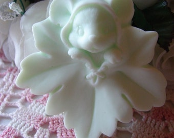 Darling Mouse in a Maple Leaf in Shea Butter Soap