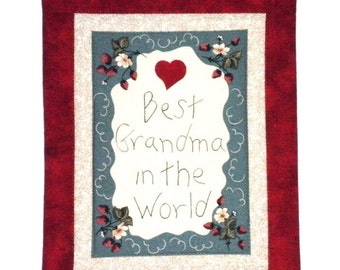 Fabric Wall Hanging - Best Grandma in the World