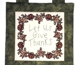 Fabric Wall Hanging - Let Us Give Thanks