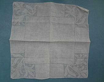 Vintage Linen Lady's Handkerchief