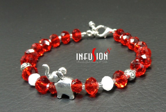 Delta sigma theta crystal trunk up elephant bracelet jewelry for Delta sigma theta jewelry