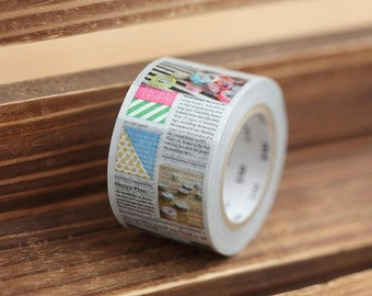MT ex 2013 S/S - Japanese Washi Masking Tape - 30mm Newspaper Journal for journaling, packaging, planner washi