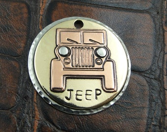 Custom Dog ID Tag Jeep-Dog Collar ID Tag-Handmade Dog ID Tag-Dog Tag for Dogs