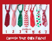 Childrens Christmas Necktie - SHIPS TODAY - Pick 1 Custom Fabric - MiniMan tie for Infant Baby Toddler Boy Teen Adult