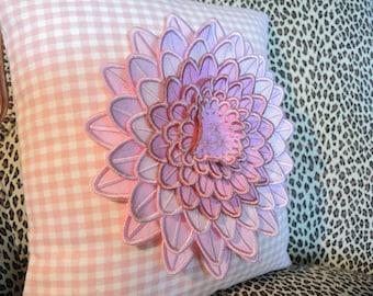 Pink Dahlia Decorative Pillow, Home Decor, Home & Living