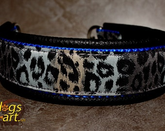 "Dog collar ""Cheetah"" by dogs-art, chain dog collar, dog collar leather, cheetah, leather dog collar, limited slip collar, boy dog collar"
