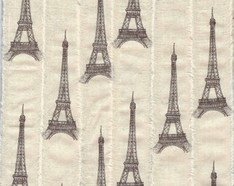 EIFFEL TOWER hand made ribbon paris apartment french trim country gift wrap muslin craft . 1068 . ....oohlala